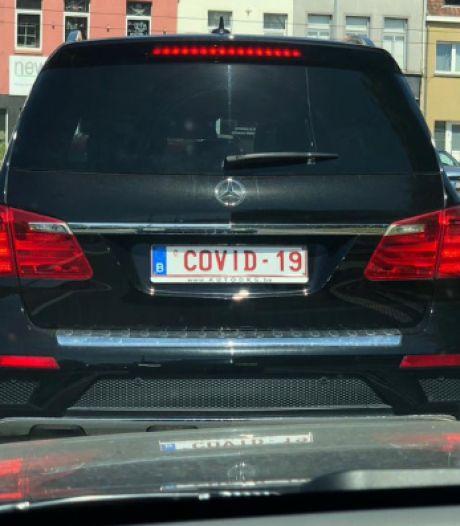 Gespot in Gentbrugge: Mercedes met nummerplaat 'COVID-19'