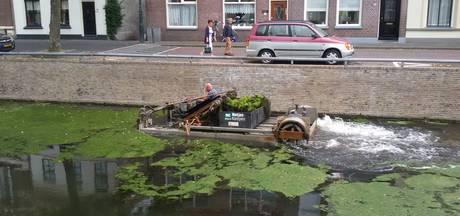 Maaiboot maakt Burgel in Kampen weer schoon