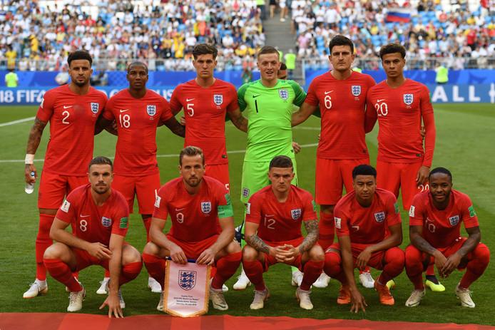 Het nationale team van Engeland.