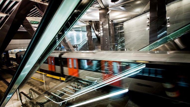 Het station Centraal Station van de Noord-Zuidlijn. Beeld anp