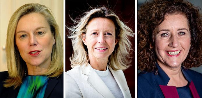 V.l.n.r. Sigrid Kaag, Kajsa Ollongren, Ingrid van Engelshoven