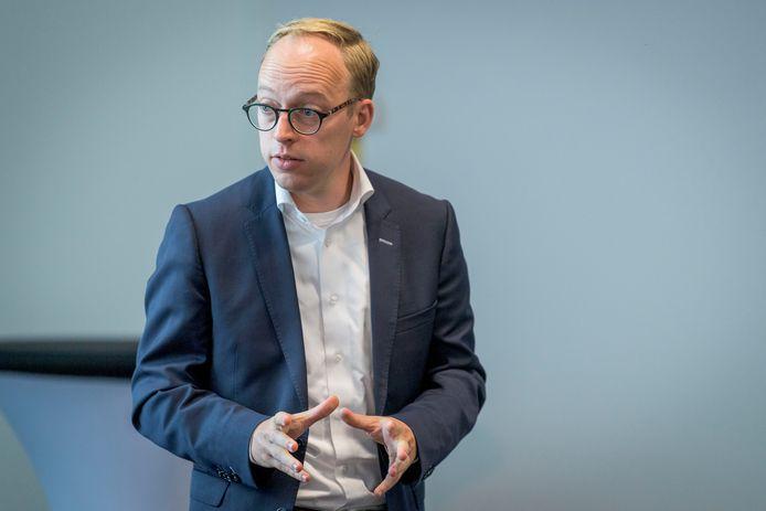 Wethouder Eelco Eerenberg van Enschede, binnen Samen14/OZJT verantwoordelijk voor zorg en jeugdhulp.