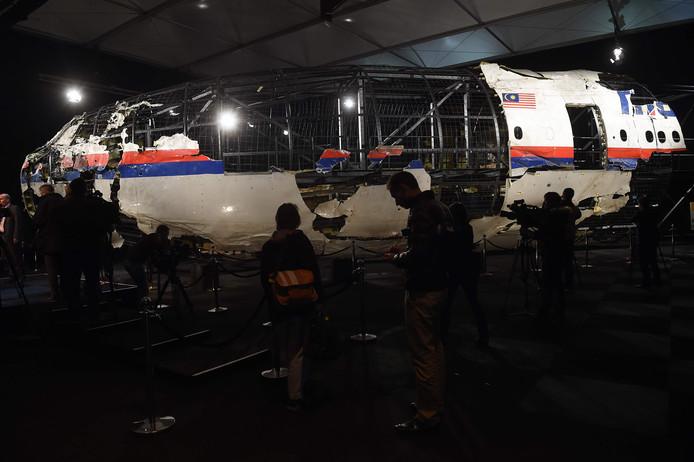 De verwoeste cockpit van vlucht MH17.