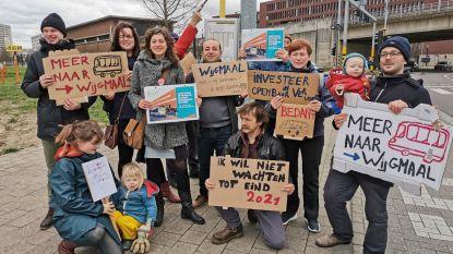 Actie van PVDA Leuven voor meer bussen in Wijgmaal