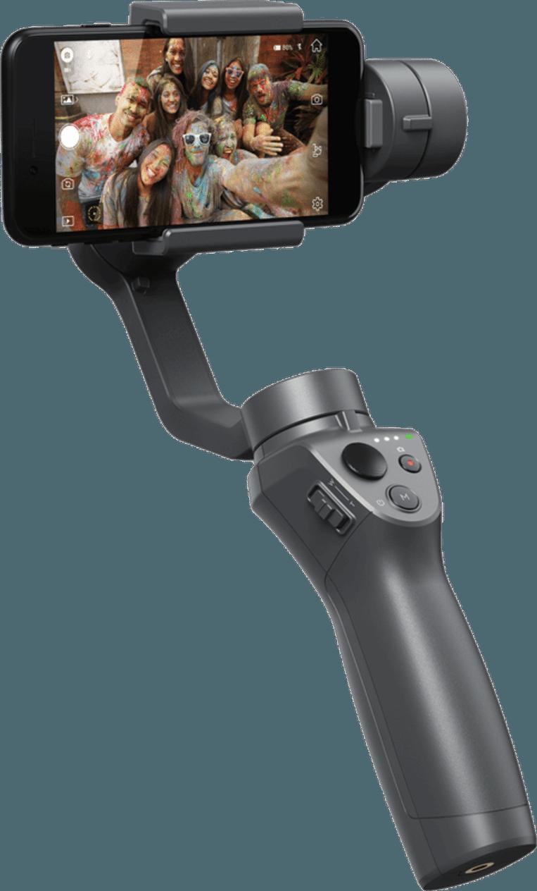 Deze gimbal van het Chinese DJI houdt je smartphone stabiel tijdens het filmen.