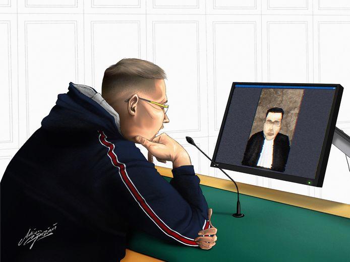 Tijdens de rechtszaak over de gewelddadige verkrachting in de bossen van Asten-Heusden zat een van de rechters in quarantaine.  Bij het vonnis volgde juist de verdachte de zaak via een video-verbinding.