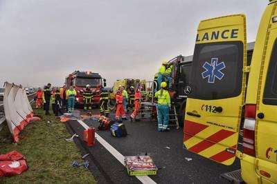 Spookrijder betrapt in file na ongeluk op A59 bij Terheijden: 'Uiterst ongewenst'