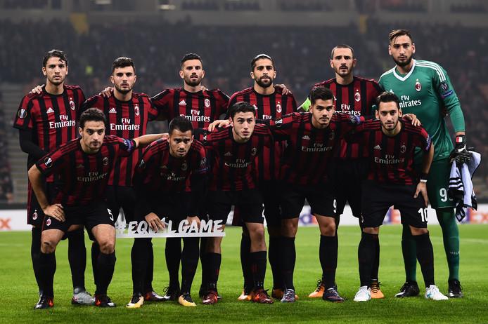 AC Milan eind oktober voor het duel met AEK Athene.