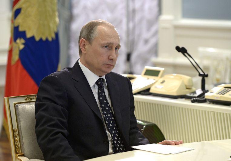 De Russische president Poetin. Beeld null