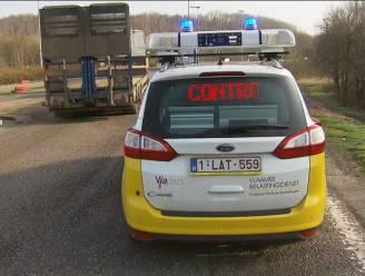 Ambtenaren controleren trucks op heffing