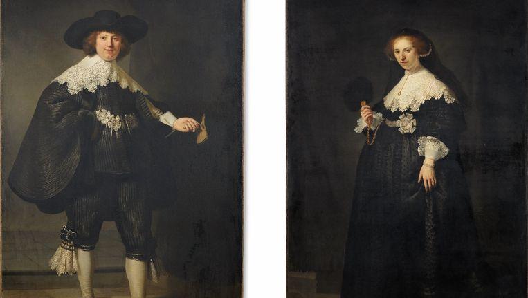 Rembrandts huwelijksportretten van Maerten Soolmans en Oopjen Coppit. Beeld anp