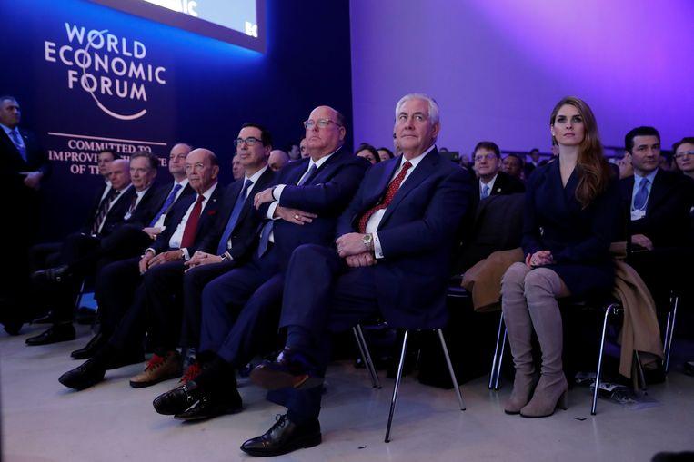 Hope Hicks op het World Economic Forum in Davos vorige maand.