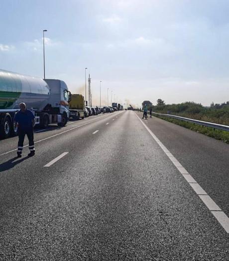 A12 bij Nieuwerbrug weer open na brand