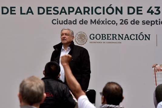 De Mexicaanse president Andrés Manuel López Obrador tijdens de bijeenkomst.