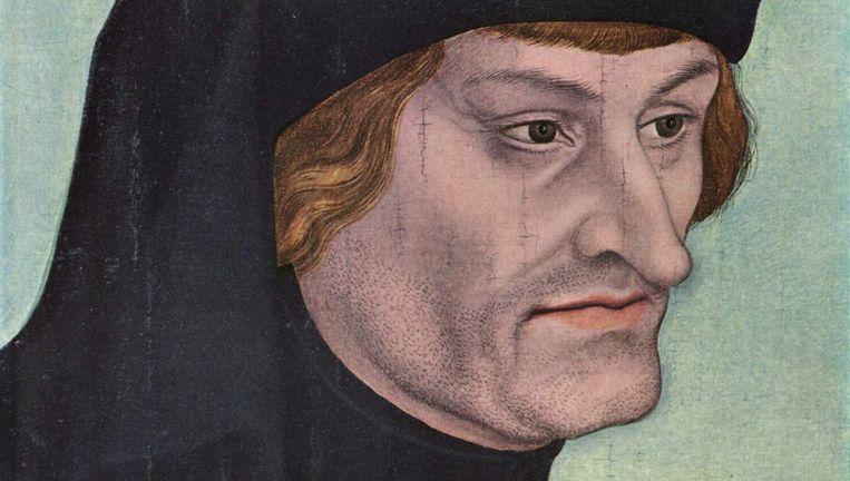Portret van Rudolf Agricola (1443-1485), door Lucas Cranach de Oude. Beeld