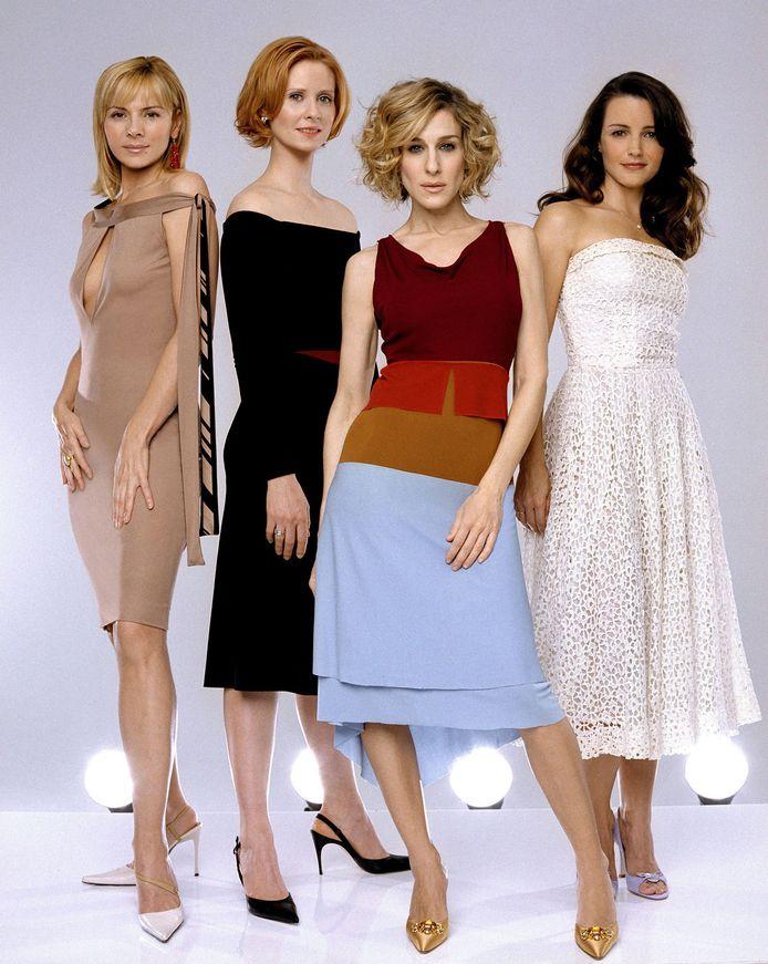 Sex and the City in 1998 met Kim Catrall, Cynthia Nixon, Sarah Jessica Parker en Kristin Davis.