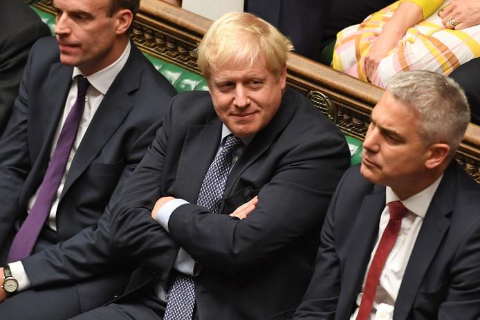 Boris Johnson blijft erin geloven.