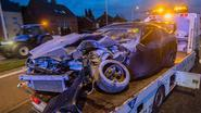 Bestuurder zit na ongeval gekneld in Toyota Supra
