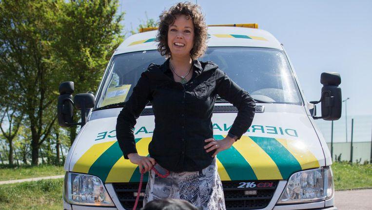 Margje de Jong, directeur van de Dieren-ambulance Amsterdam: 'Wij zorgen voor een gezonde stad.' Beeld Rink Hof