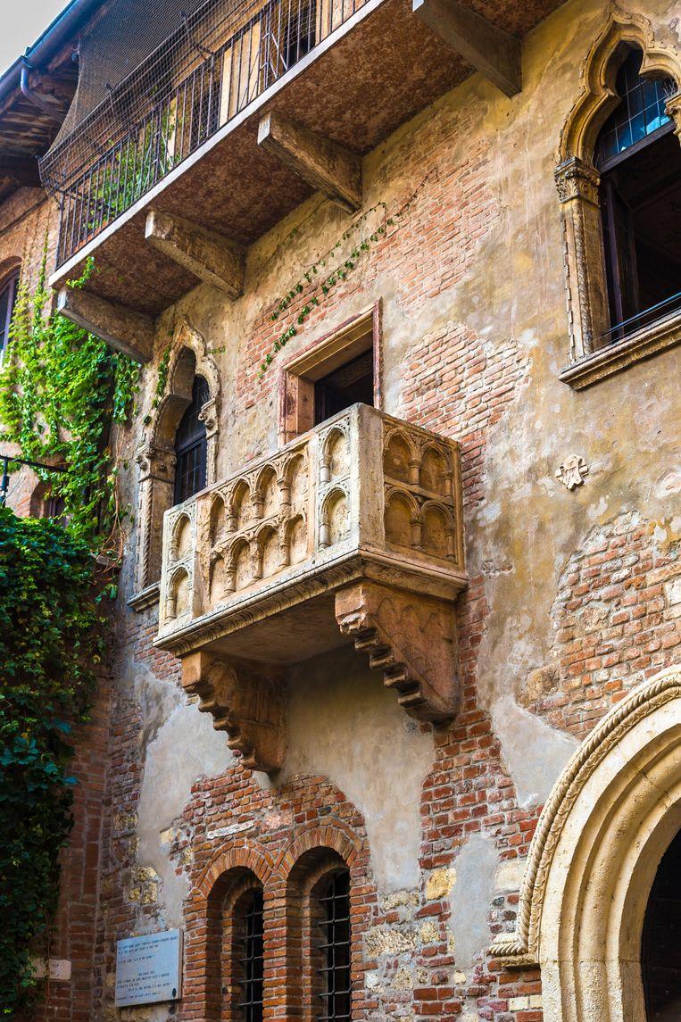 Julia's balkon in Verona, waar ze aan Romeo verscheen. Beeld colourbox