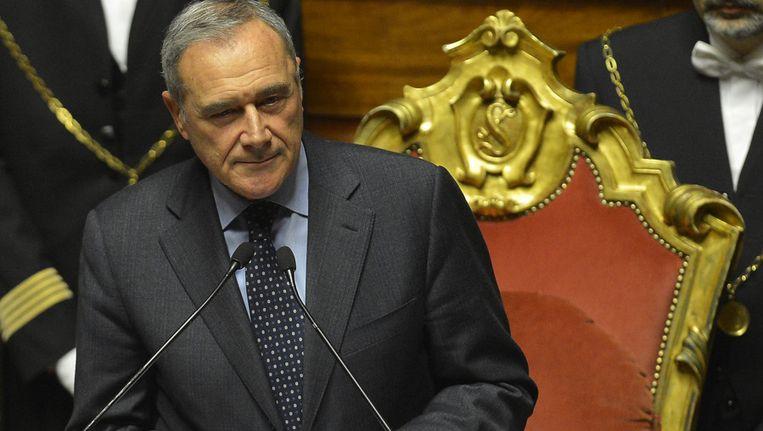 Pietro Grasso. Beeld AFP