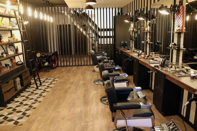 Een zicht op de nieuwe 'Ground Zero Barber Shop'.