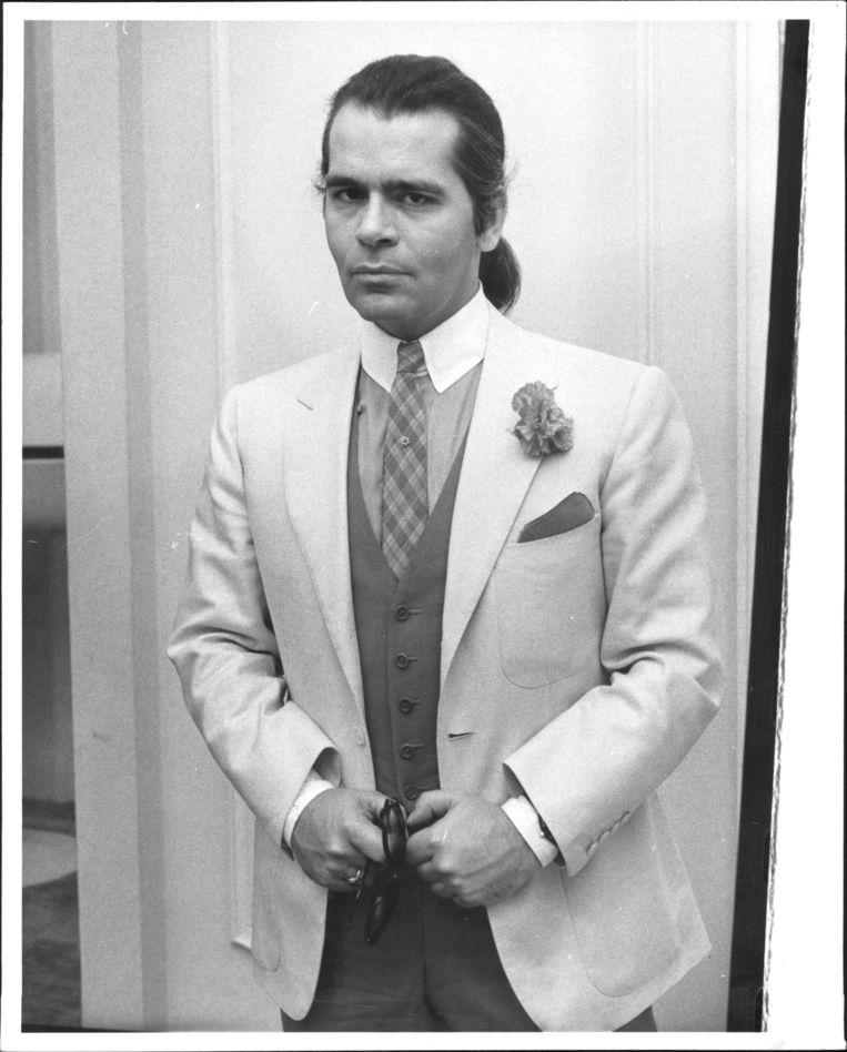 Een jonge Karl Lagerfeld (23 May 1986). Beeld The New York Post via Getty Images