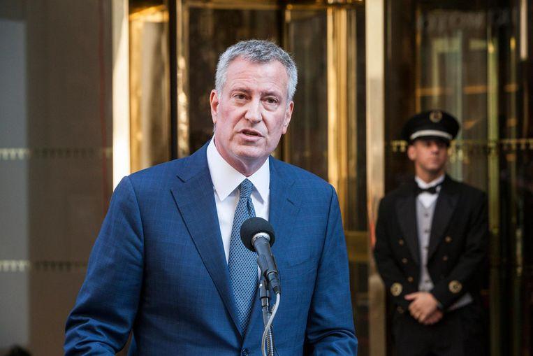 Burgemeester Bill de Blasio van New York. Beeld photo_news