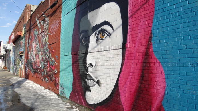 Het inmiddels afgebroken graffiti-mekka 5Pointz.