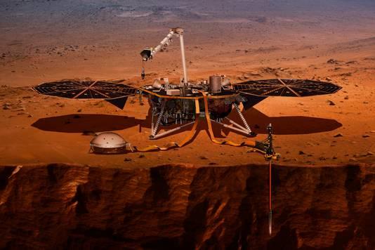 De missie van InSight zal twee jaar gaan duren, mits de sonde heelhuids landt.