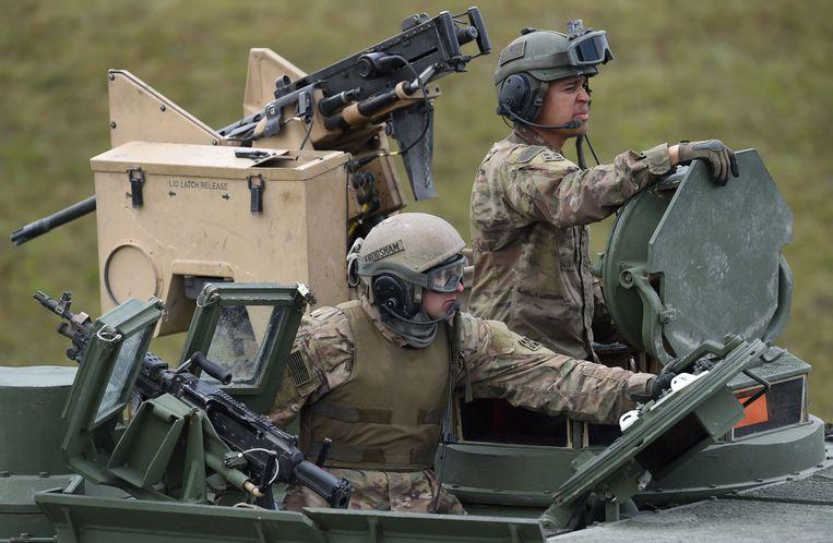 Amerikaanse troepen in Duitsland. Beeld AFP