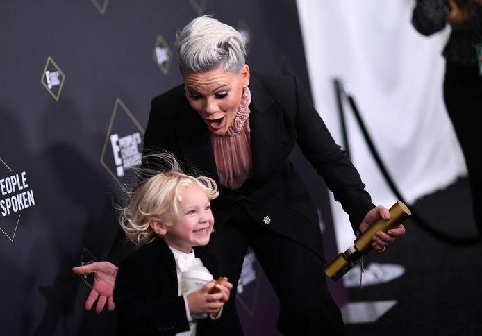 Pink et son fils Jameson