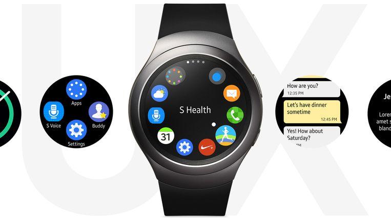 Schermafbeelden van de Samsung Gear S2 smartwatch Beeld