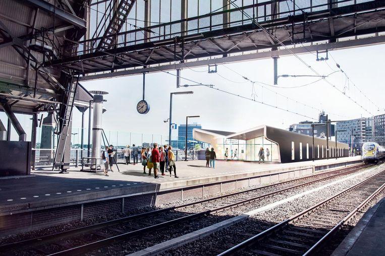 De nieuwe Eurostarterminal bij spoor 15B Beeld BenthemCrouwel architecten