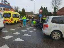 Scooterrijder gewond na glijpartij in Waspik