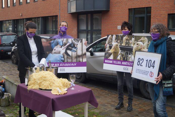 La ministre Tellier a été interpellée sur la question du gavage des oies