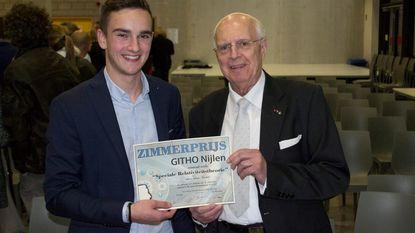 Arno (17) wint Zimmerprijs