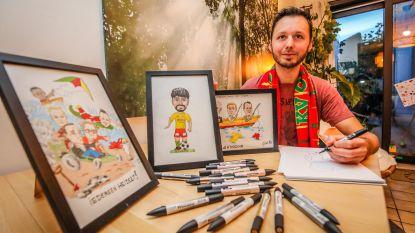 Cartoonist maakt figuurtjes van publiekslieveling Fernando Canesin