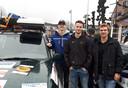 Go for Africa, studenten ROC ter AA. vlnr: Bob van Kemenade, Chris vd Biggelaar en Sven van Loo.