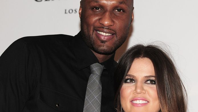 Archieffoto: Lamar Odom en Khloe Kardashian.