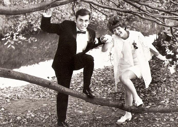 Gouden paar Veraa, op 19 november 1969.