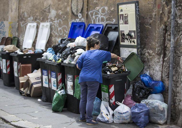 Afval in Rome. Beeld epa
