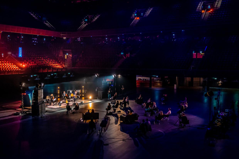 Veronica organiseerde in Ziggo Dome Amsterdam een serie concerten voor maximaal dertig bezoekers.