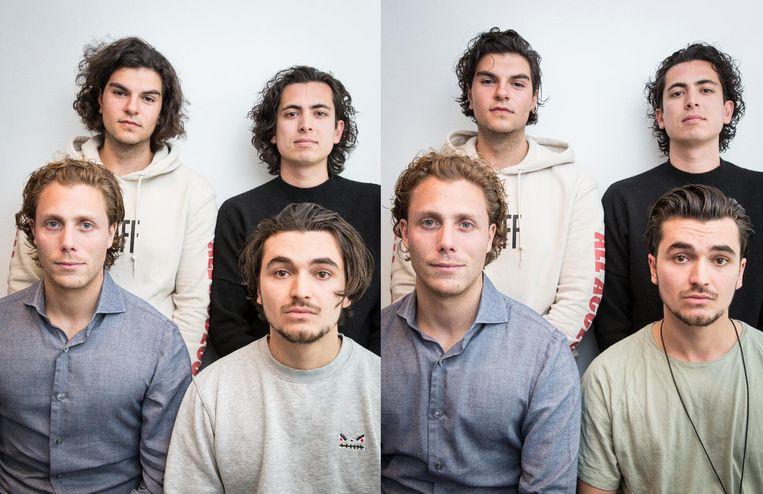 Van linksboven, met de klok mee: Eyal Granot, Julien Zaal, Daan Erisman en Jonathan Tugendhaft Beeld Dingena Mol