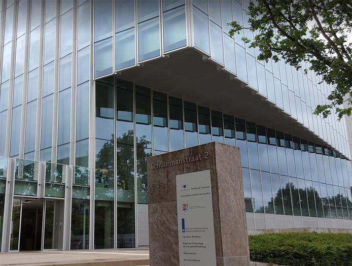 Exterieur van de rechtbank in Zwolle.