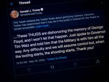 Twitter schermt boodschap Trump weer af, Witte Huis reageert boos