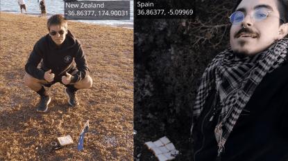 """Student uit Nieuw-Zeeland maakt """"sandwich"""" met bijna 13.000 kilometer aarde ertussen"""