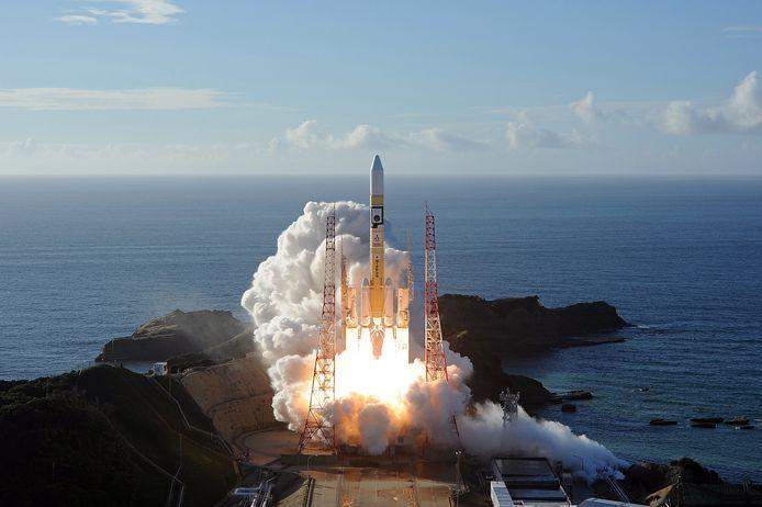 De Arabische Marsmissie vertrok van ruimtevaartcentrum Tanegashima in Japan.