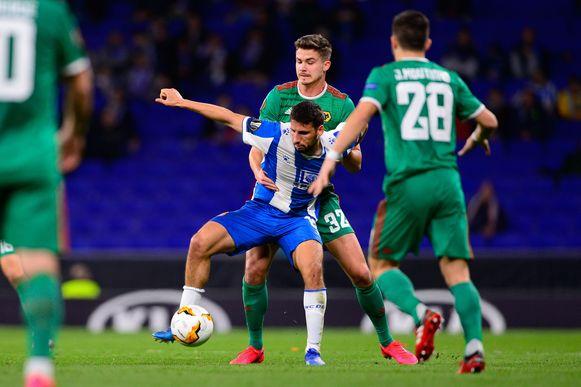 Leander Dendoncker ging met Wolves op bezoek bij Espanyol.