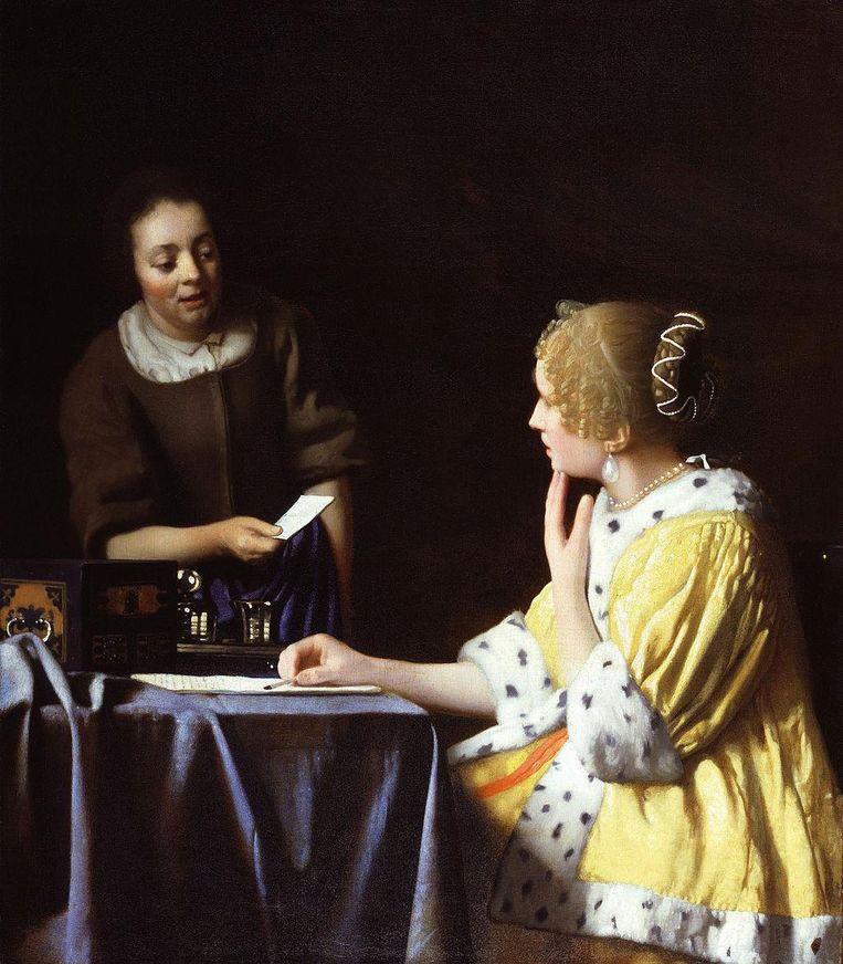 Schilderij: Dame en Dienstbode. 'De manier waarop het licht op de vrouwen valt.' Beeld